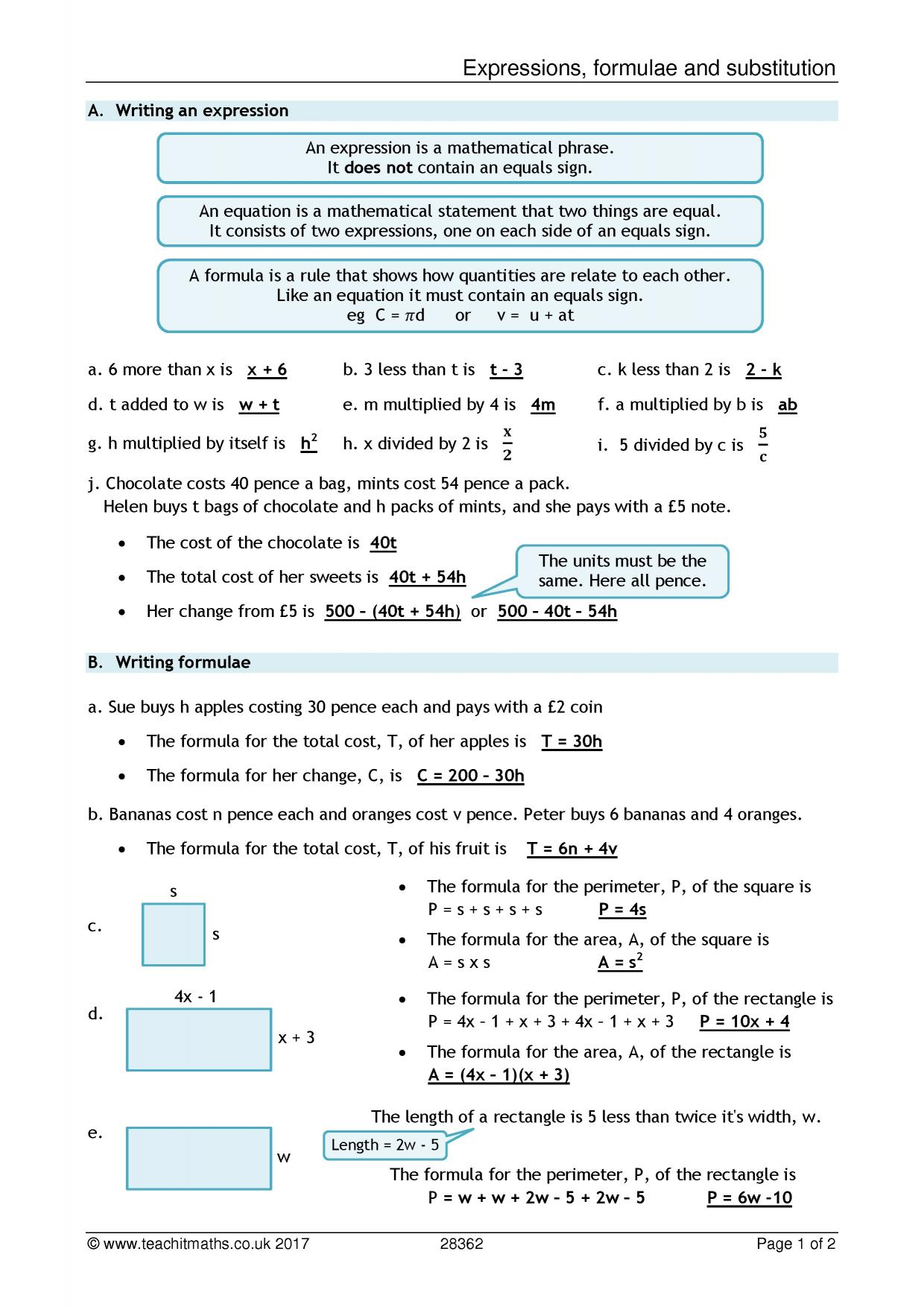 Ks3 Algebra