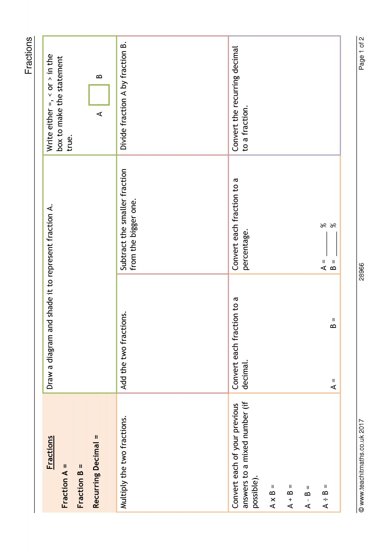 Printables Of Converting Fractions To Decimals Worksheet Ks4