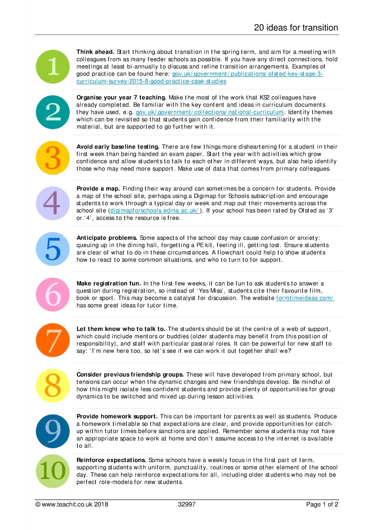 20 Ideas For Transition