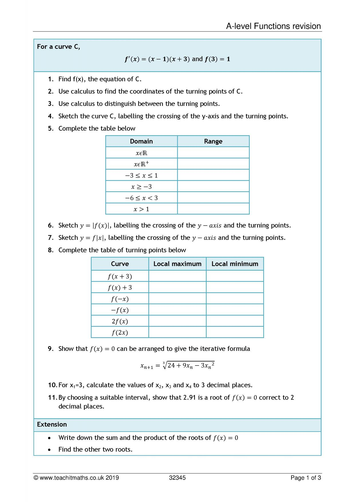 Maths Revision Teaching Resources