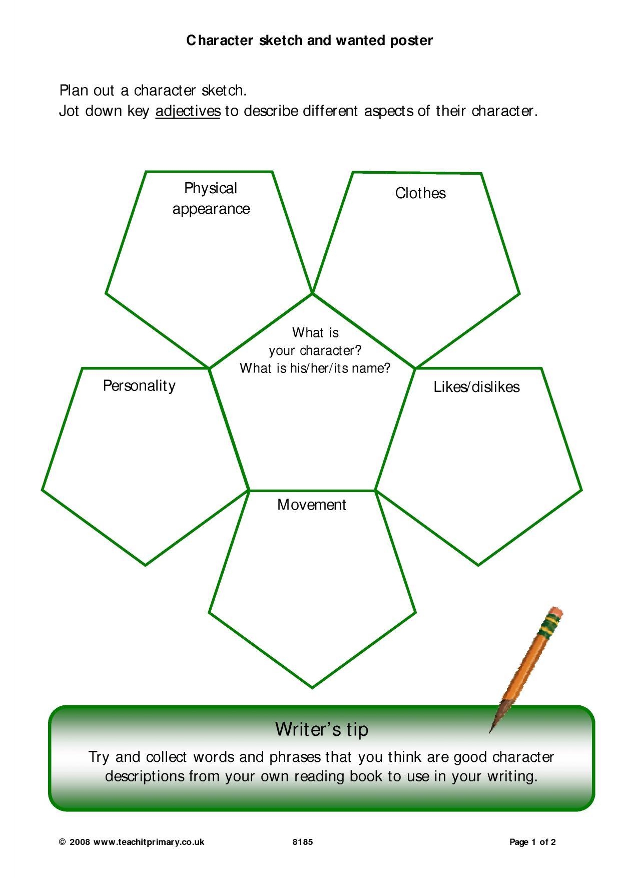 Worksheet Creating A Character Worksheet Worksheet Fun
