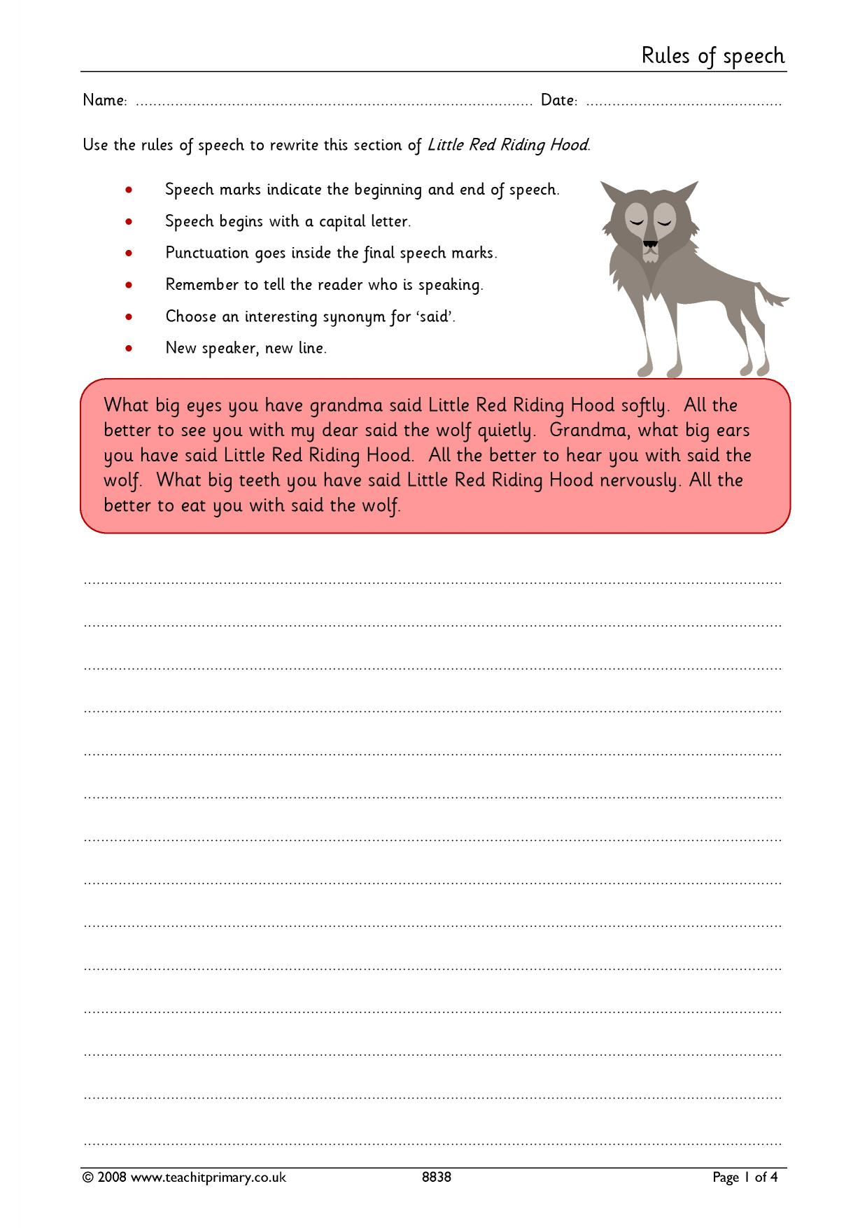 Vocabulary Interview Worksheet