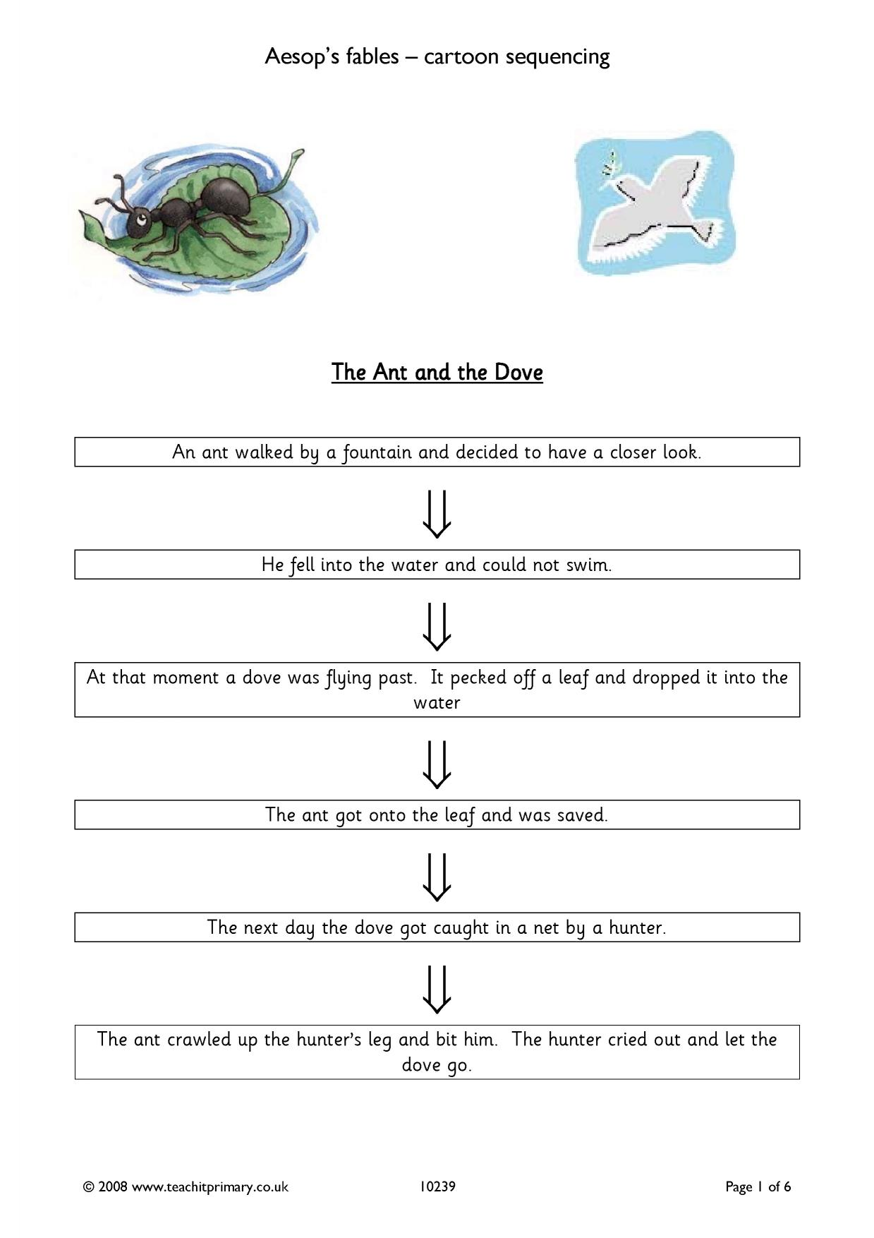 Worksheet Unpacking Fables Answer Key