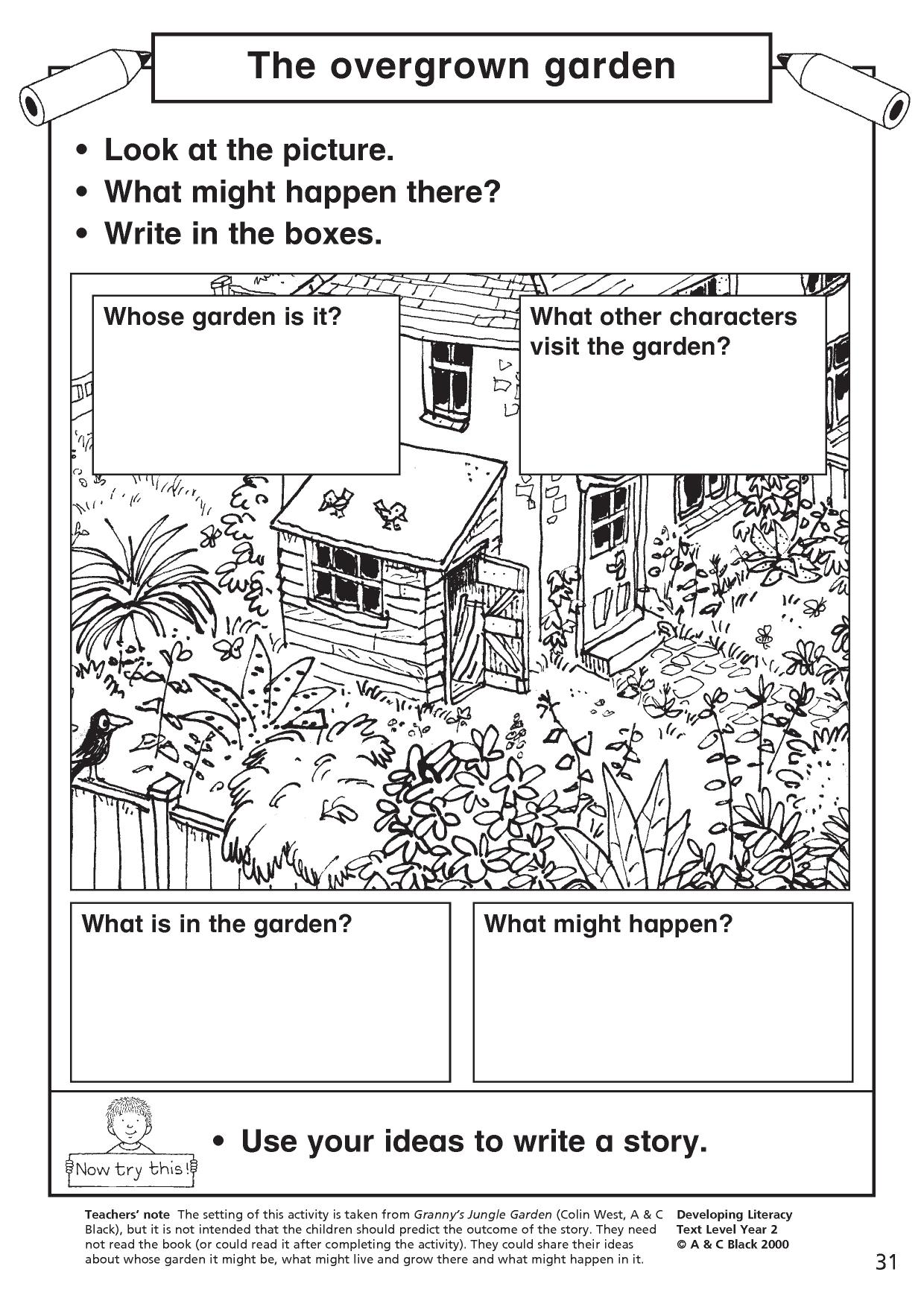 5 Senses Descriptive Writing Worksheet