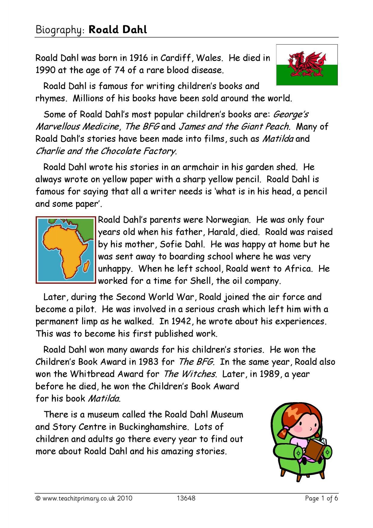 Biography Roald Dahl