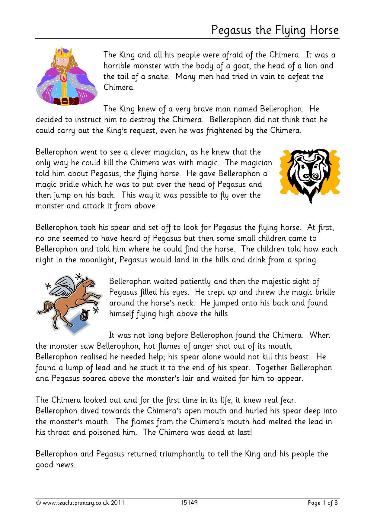 Greek Mythology Worksheet 19