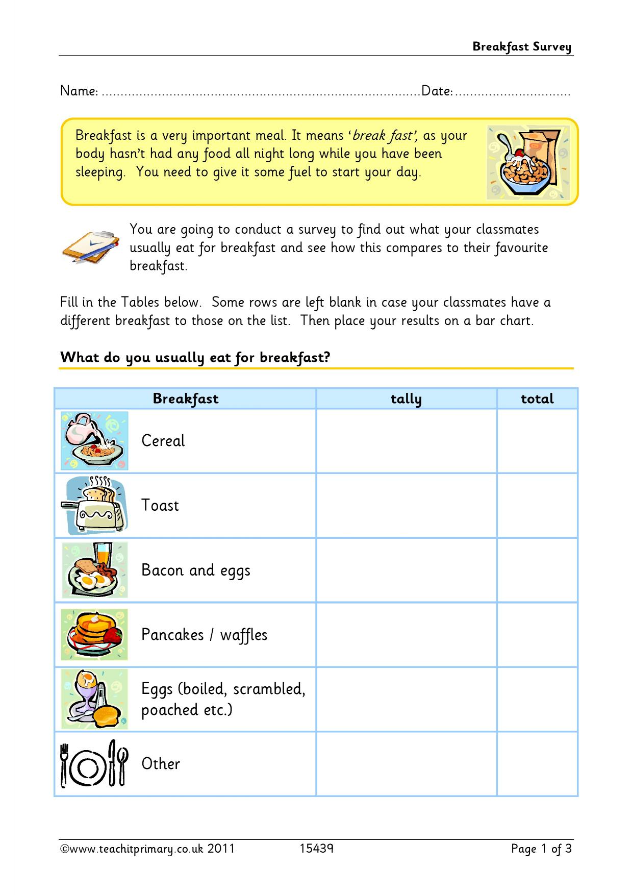 Adjectives Food