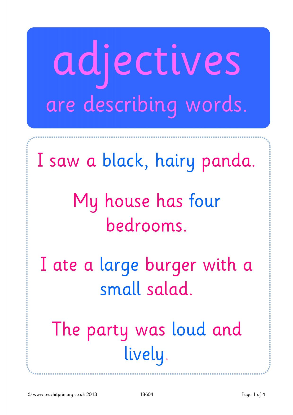 Adjectives Food