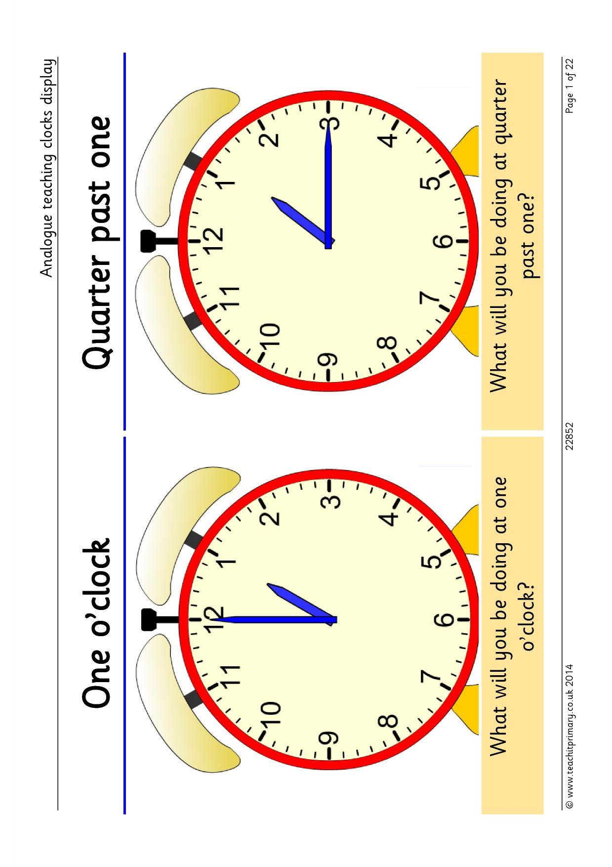 Ogue Teaching Clocks Posters