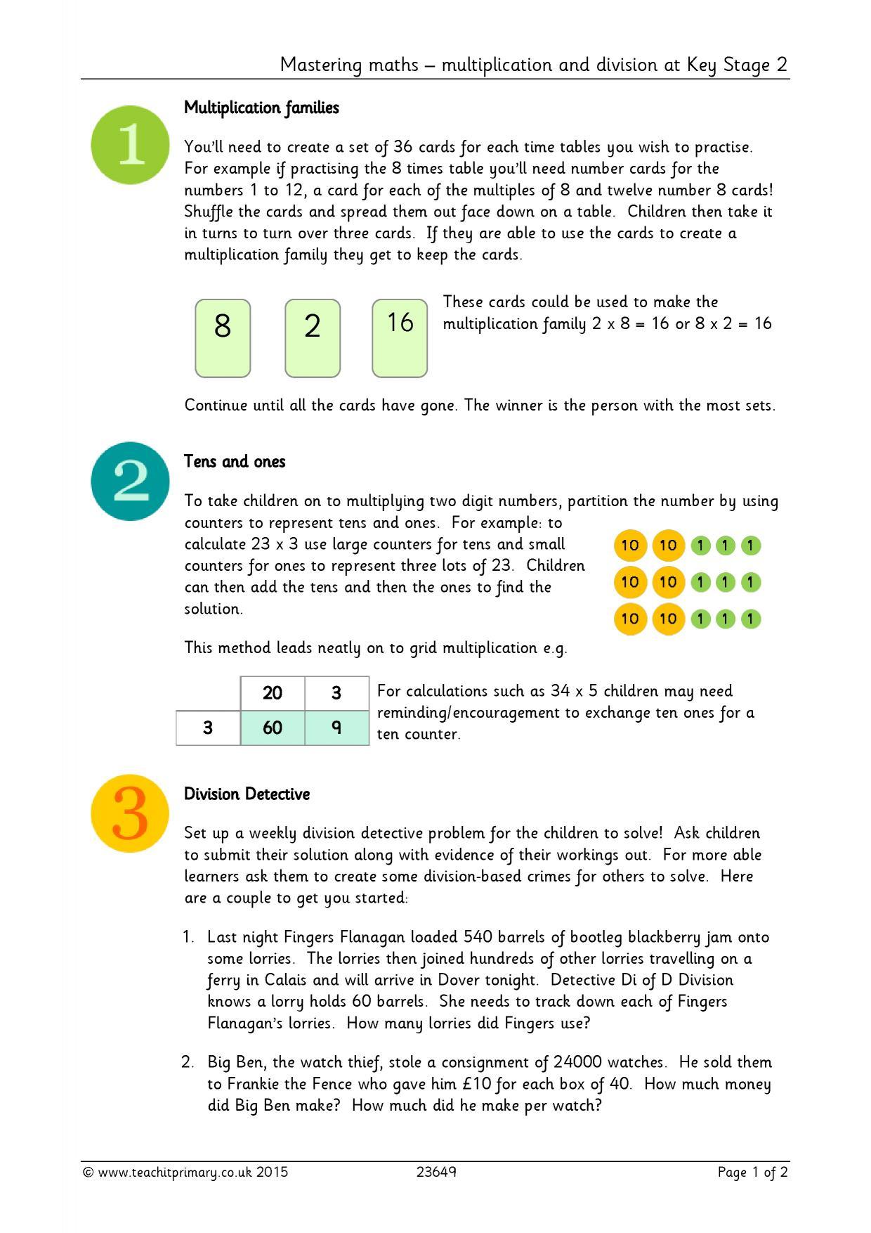 Division Worksheets Ks2