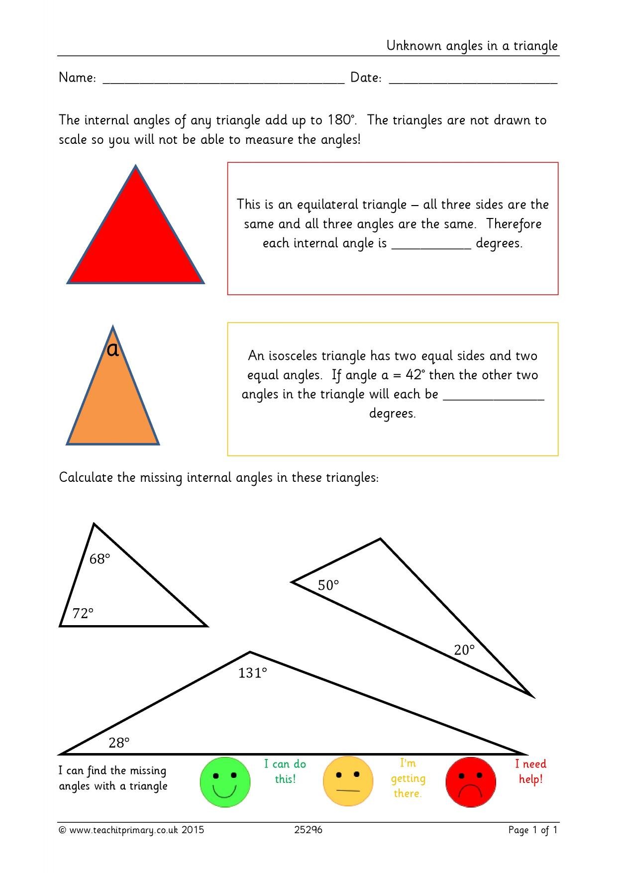 Comparing Polygons Worksheet