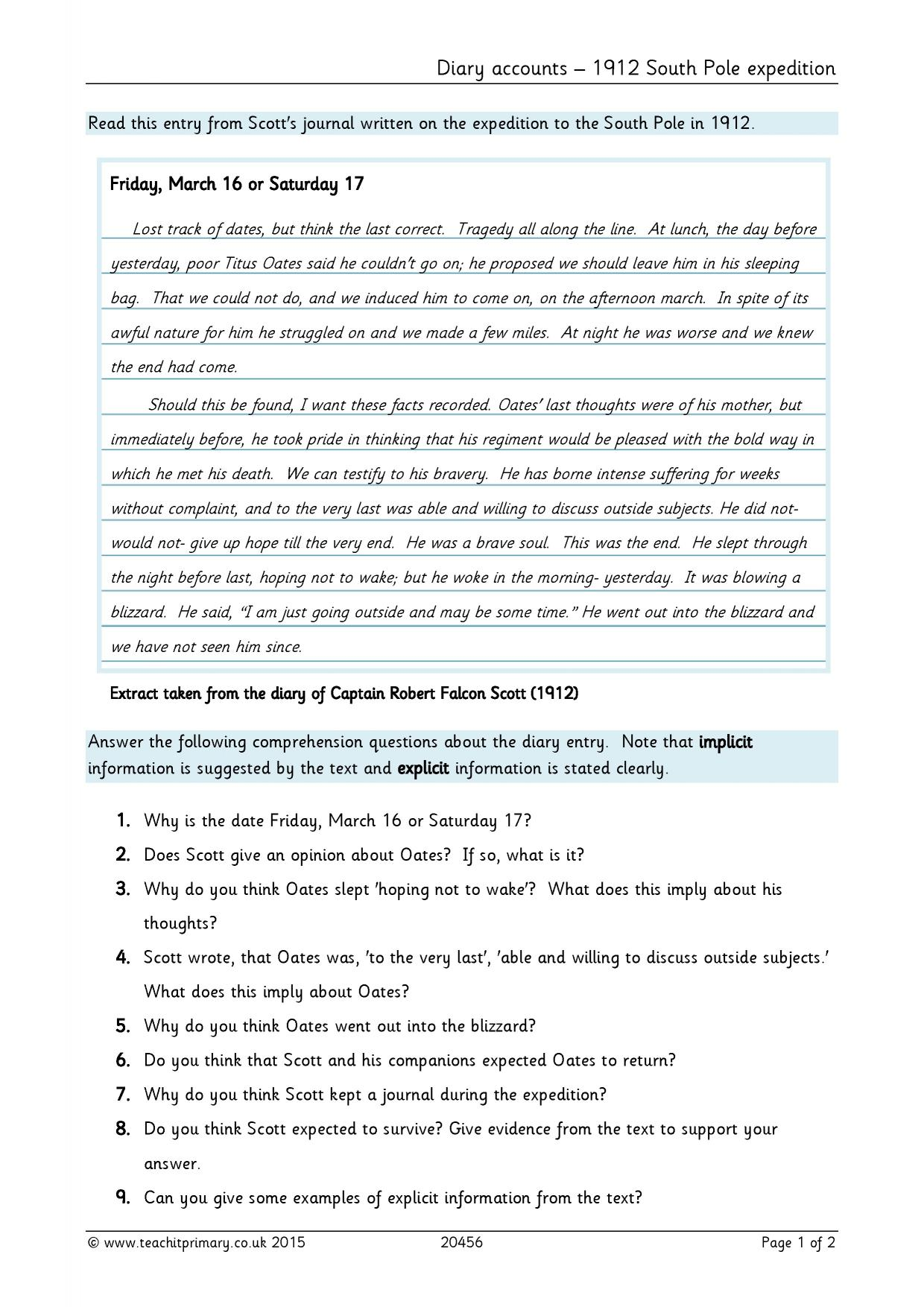 Ks2 Reading Comprehension Resources