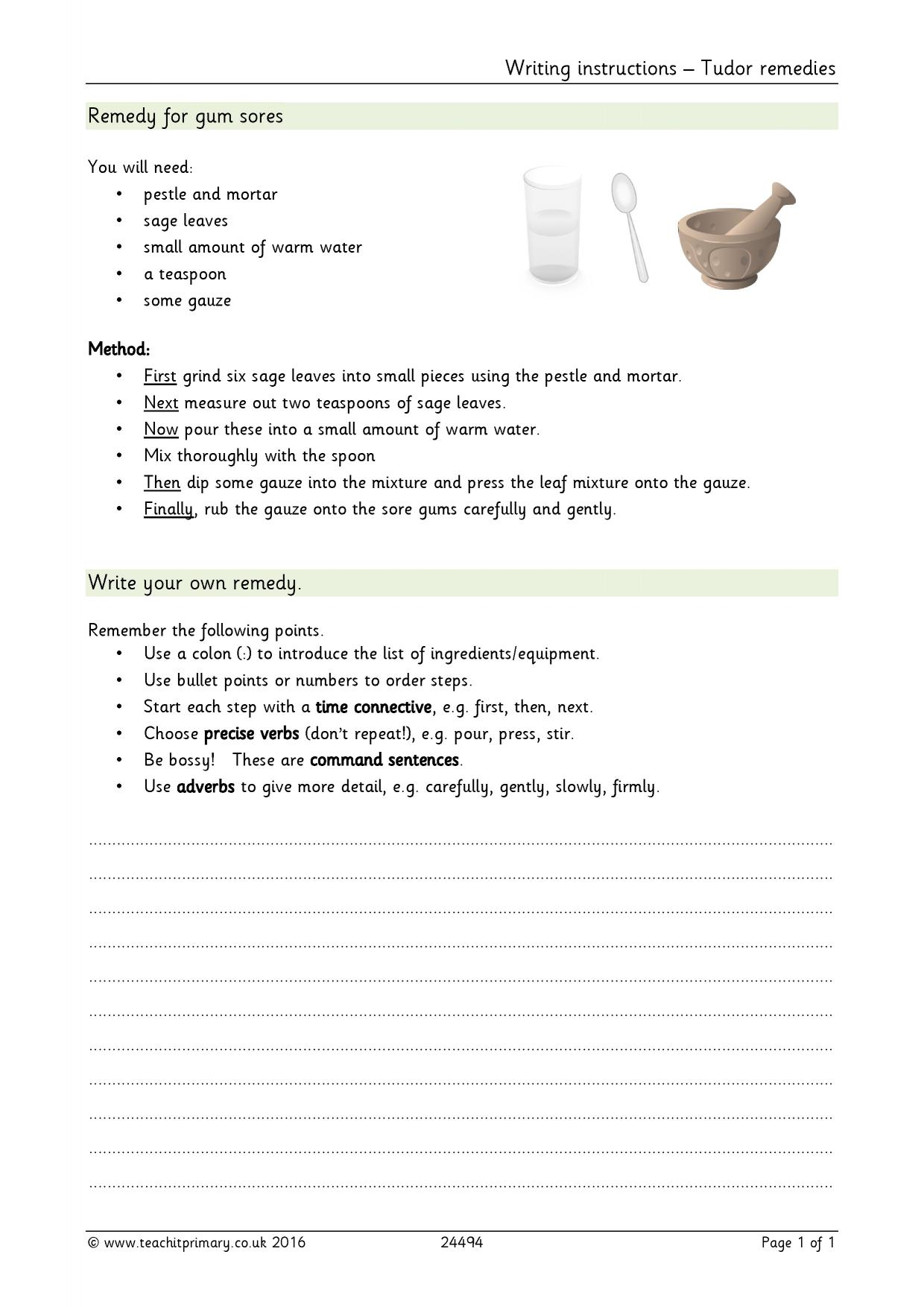 Worksheet Sequence Of Events Baking