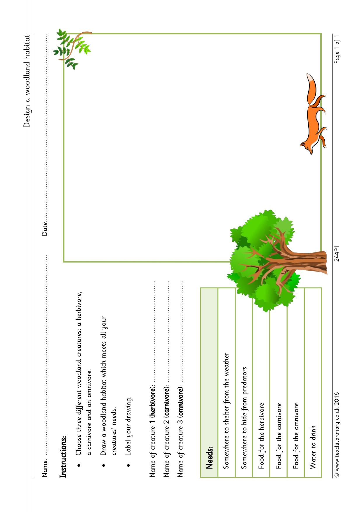 Worksheet Habitat Worksheets Grass Fedjp Worksheet Study Site