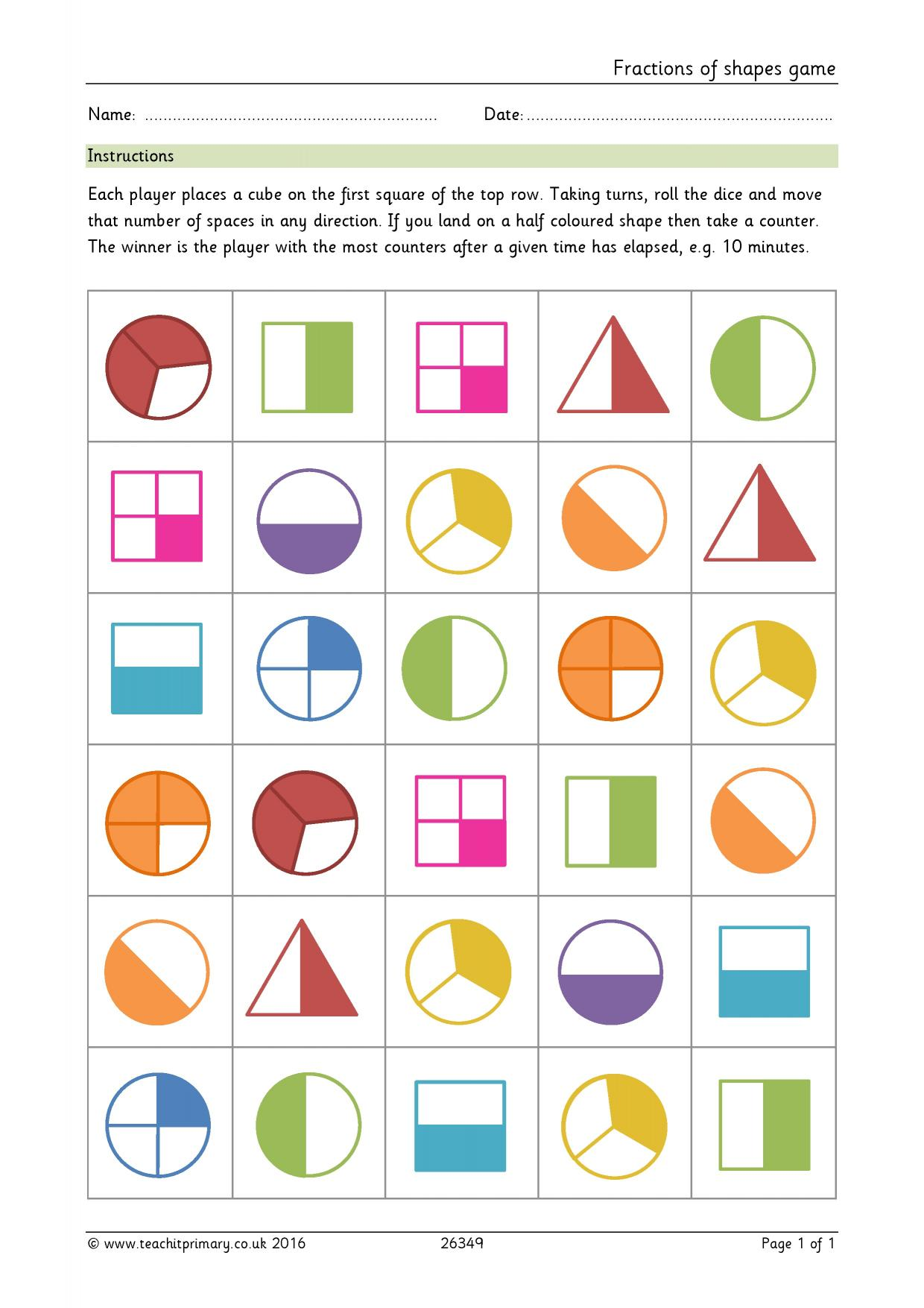 Fraction Worksheet 1 K5 Learning