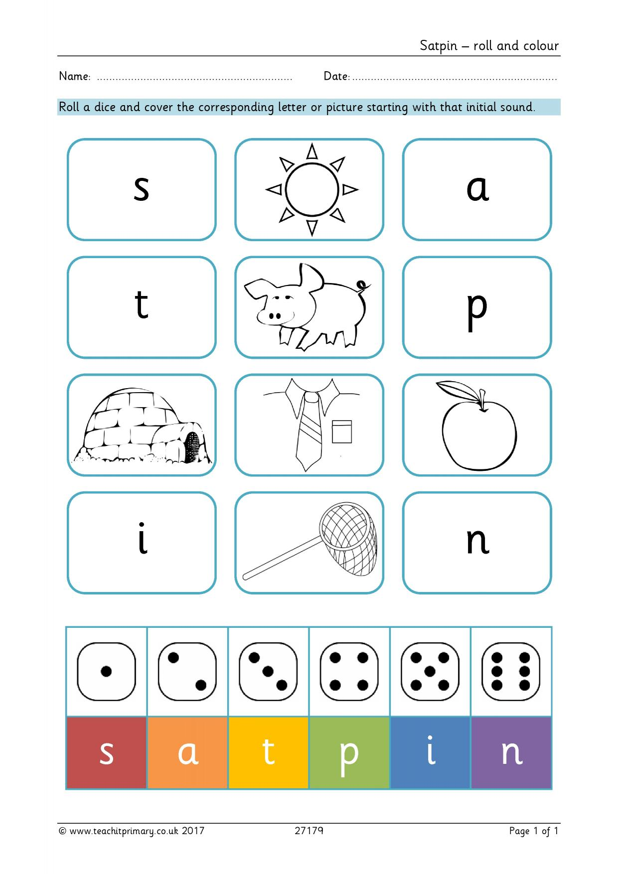 S A T P Phonics Worksheet