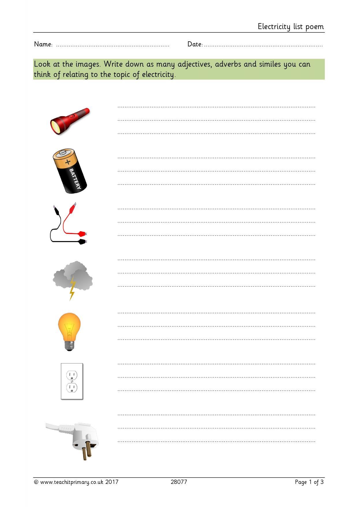 Writing Descriptive Sentences Ks2