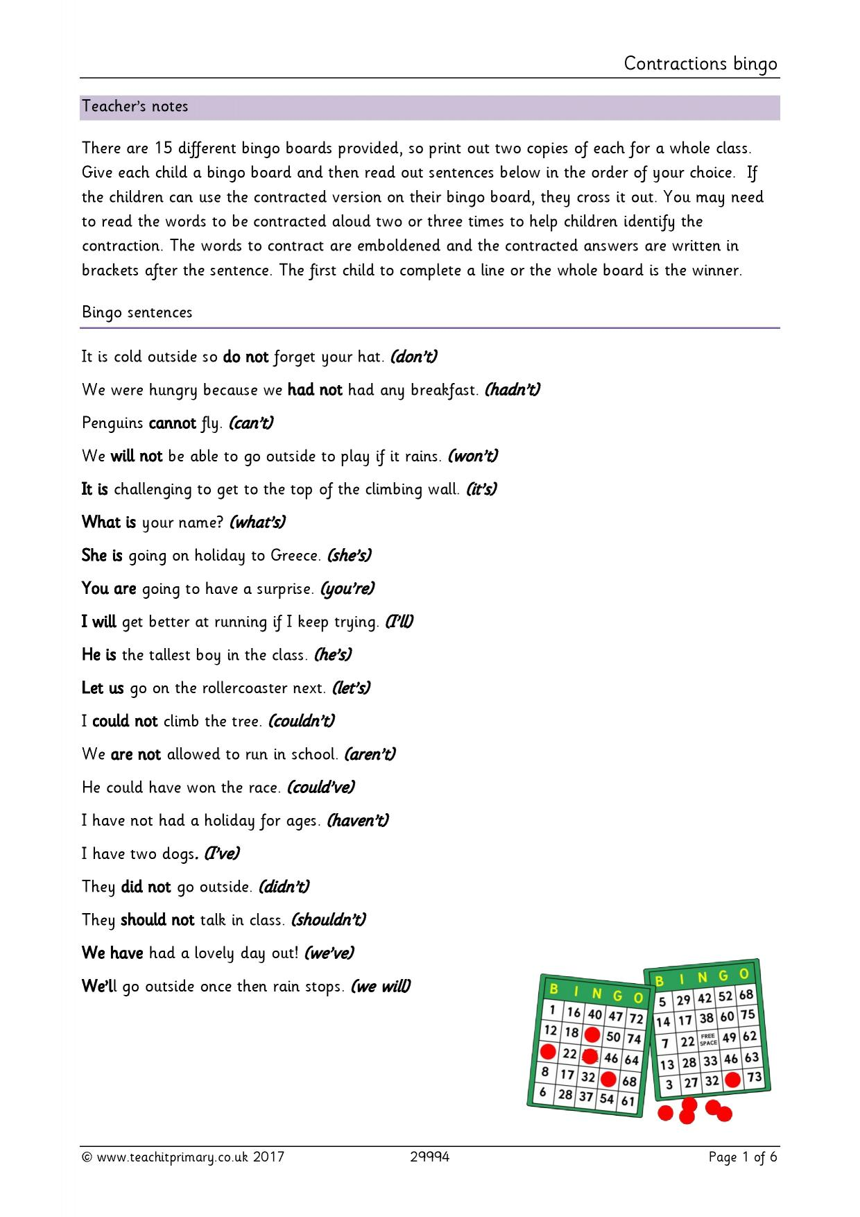 Vocabulary Punctuation And Grammar For Ks2
