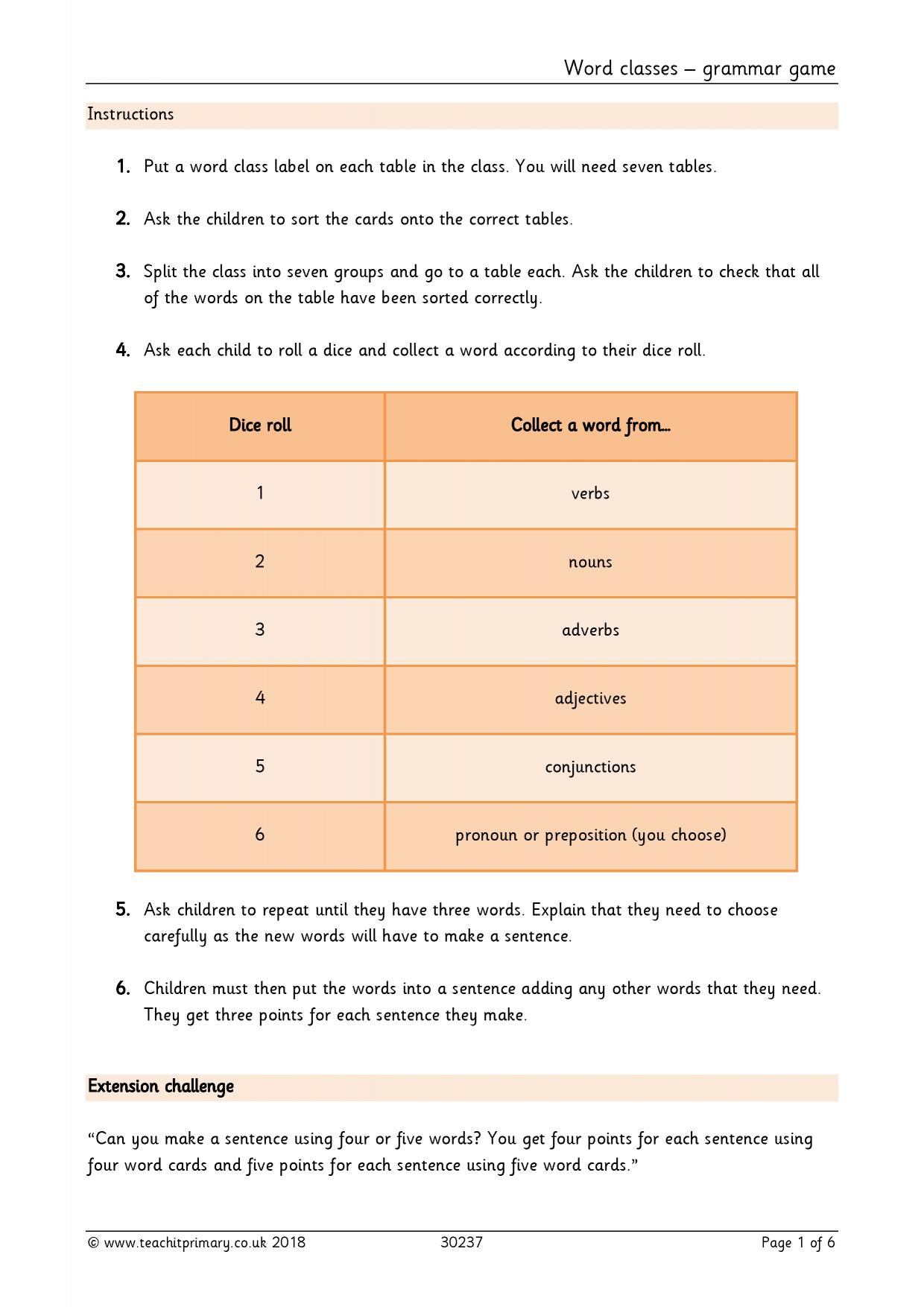 Conjunction Exercise For Class 4 Cbse
