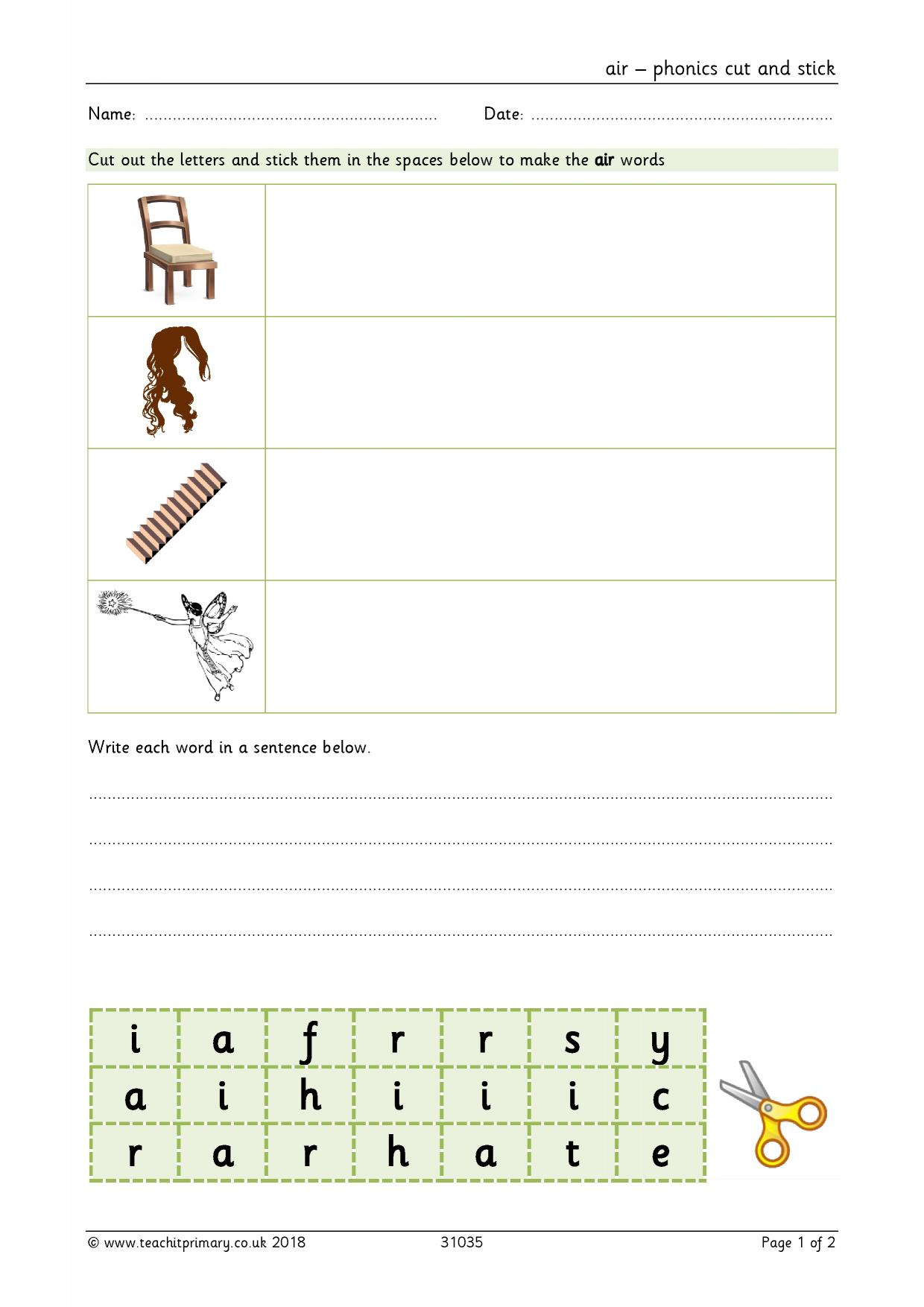Ai Worksheet Ks1