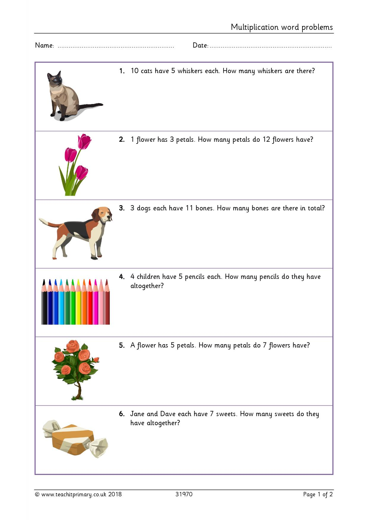 Worksheet Division Ks1