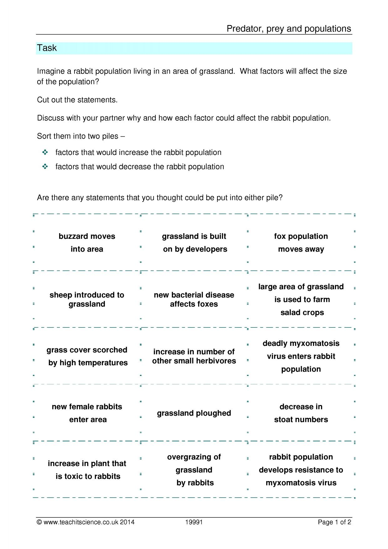 Worksheet Predator Prey Worksheet Grass Fedjp Worksheet
