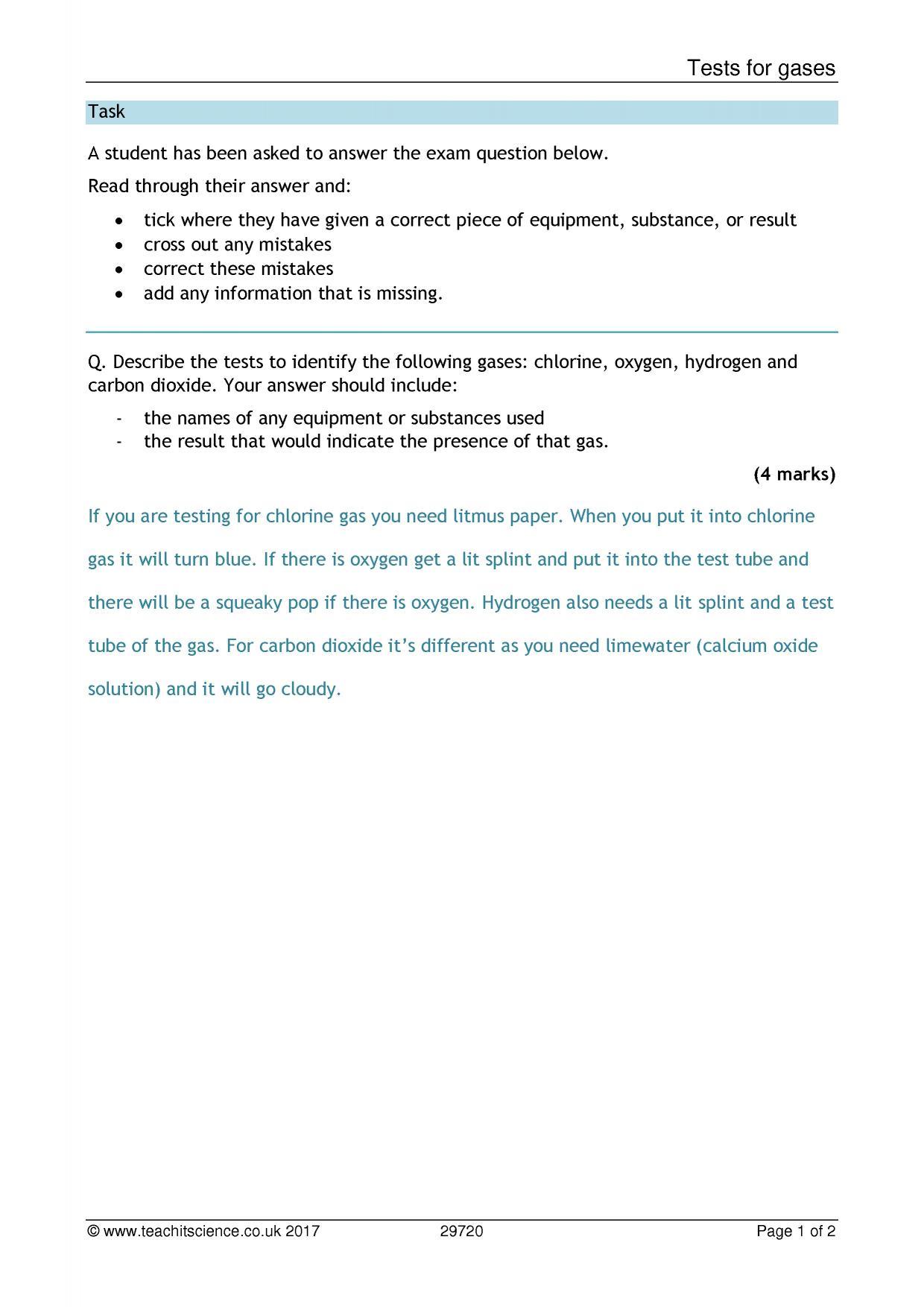 Ks3 Chemistry Teaching Resources Printable Worksheets