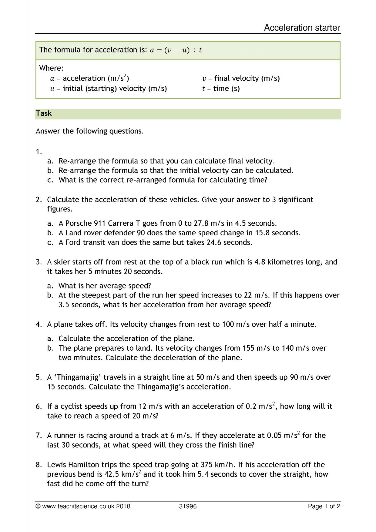 Significant Figures Worksheet Ks4