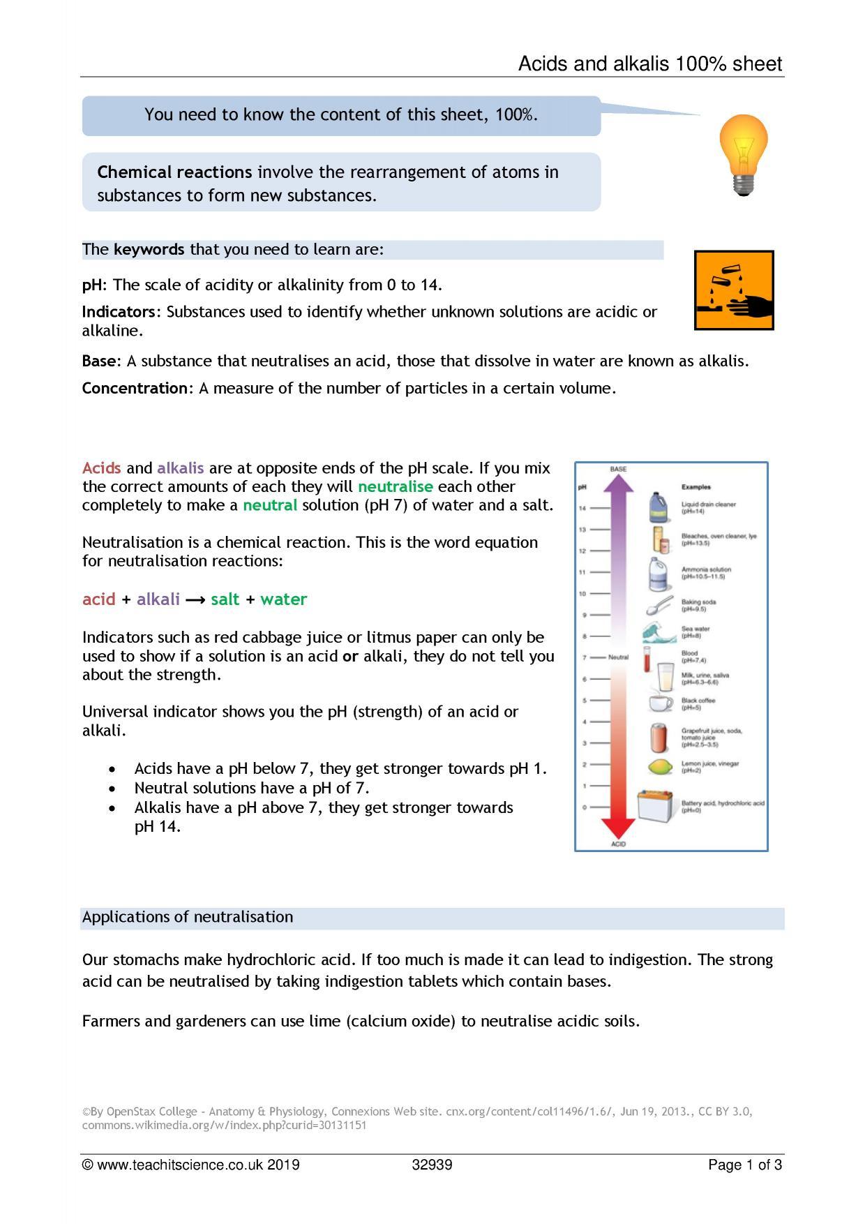 30 Ph Scale Coloring Worksheet