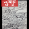 a drawing of a hand reaching for a heart