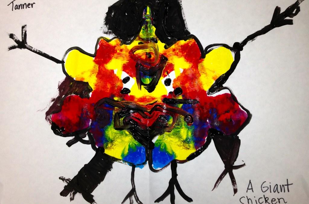 K Rorschach Print - chicken