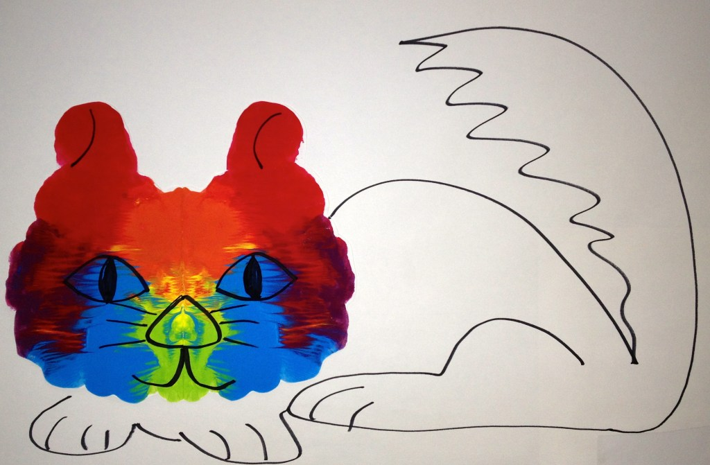K Rorschach Print - my kitty