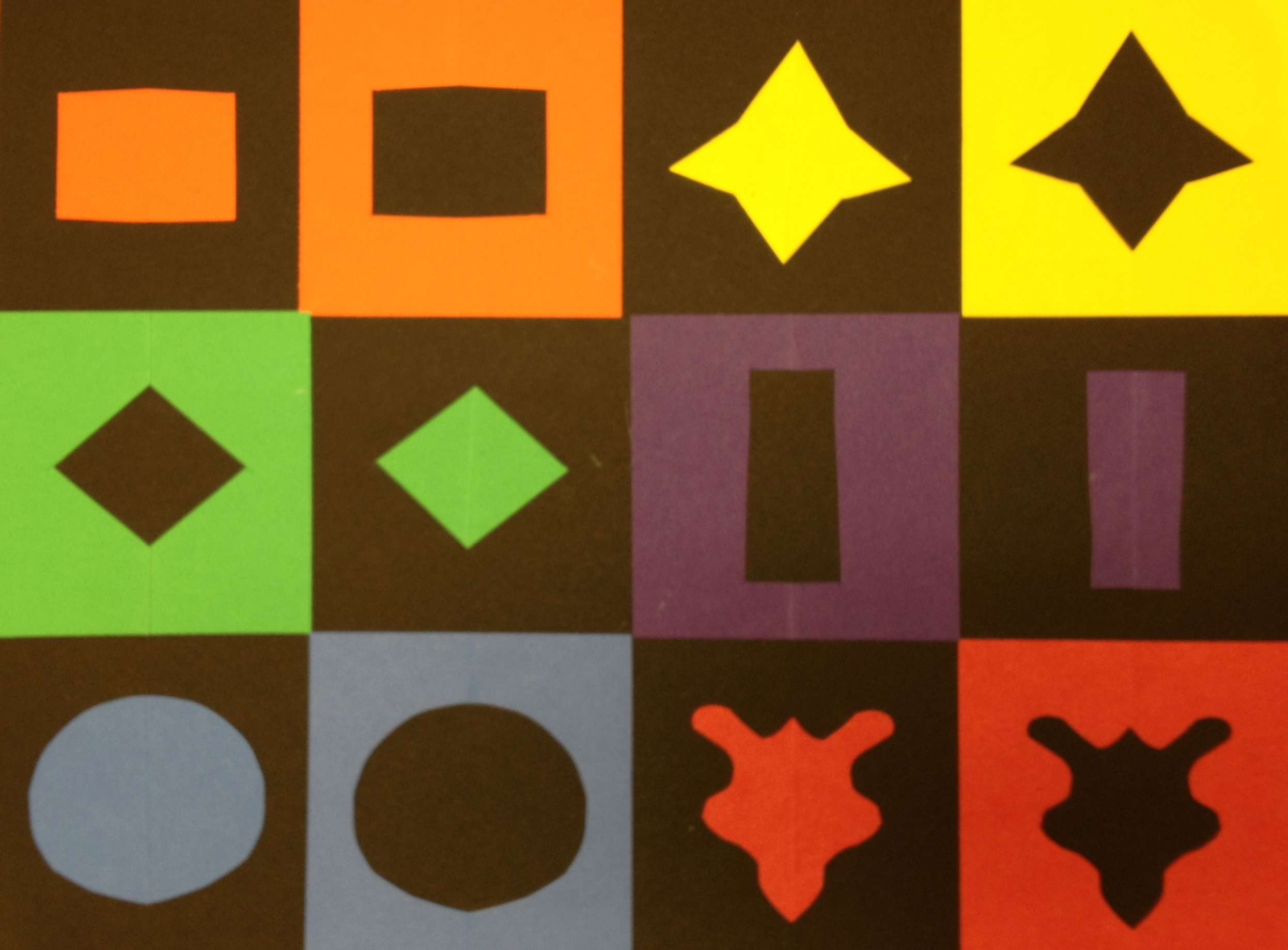 Basic Collage With Positive And Negative Shapes Teachkidsart