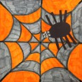 Colorful Spiderweb with Spider