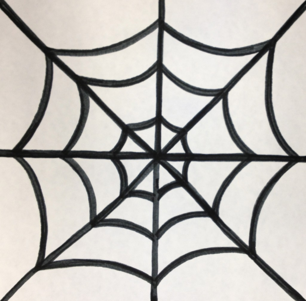 Colorful Spiderwebs Teachkidsart