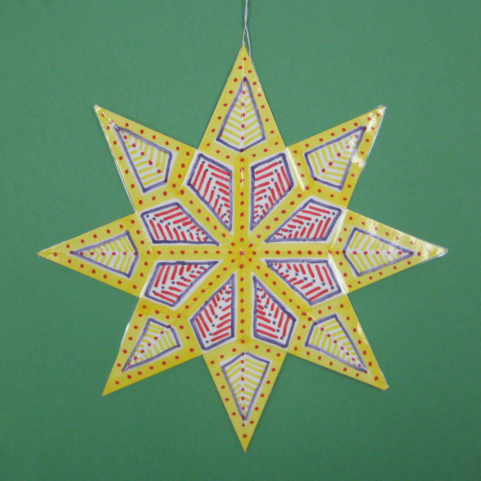 Christmas In July Folded Paper Stars With Symmetry