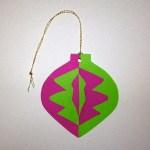 Notan Ornament front