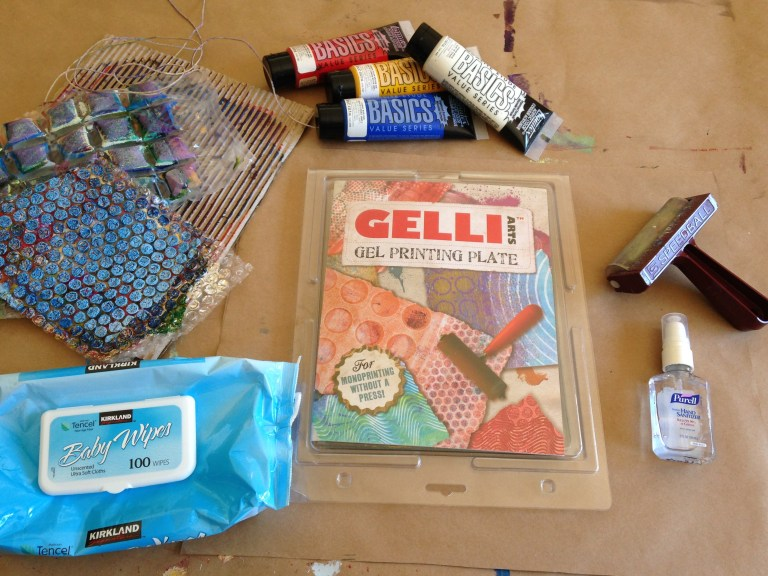 Supplies for Gelli printing
