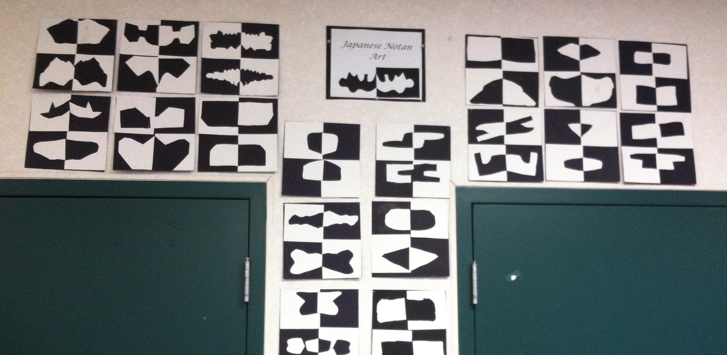 1st Grade Japanese Notan Designs