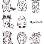 jumo_health_animals coloring sheet