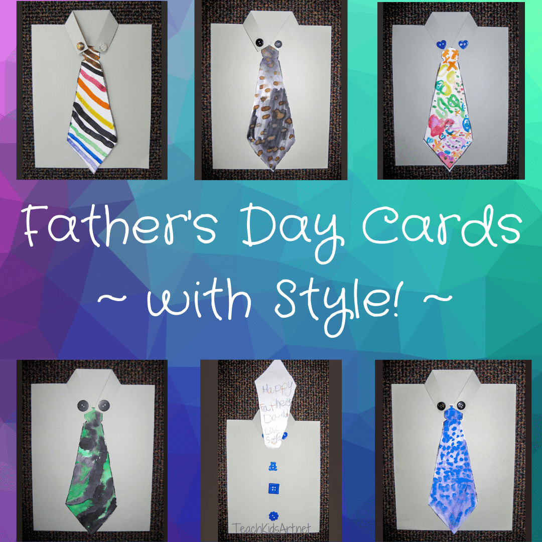 6 Father's Day Cards Made by Kindergarteners