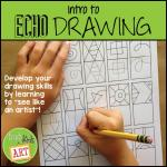 """photo of the cover of """"Intro to Echo Drawing"""" on Teachers Pay Teachers"""