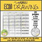 """photo of """"More! Echo Drawing"""", a resource on TPT for teaching kids to draw"""