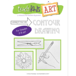 photo of the cover for Learning to Draw with Contour Drawing on Teachers Pay Teachers