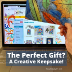 A photo of the website for ordering keepsake gifts from kids' artwork