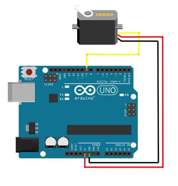 arduino servo circuit