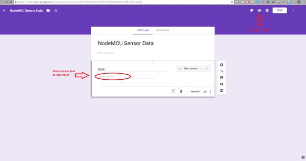 node mcu google sheet create form