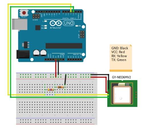 Arduio to GPS Diagram - gps tutorial