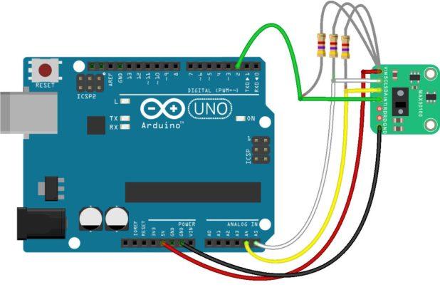 Arduino MAX30100 Wiring Diagram