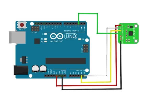 MAX30100 Heart Rate Sensor Arduino Diagram